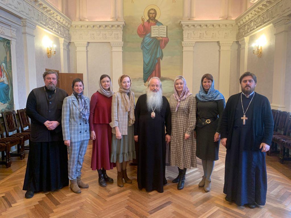 На встрече с митрополитом Орловским и Болховским Тихоном