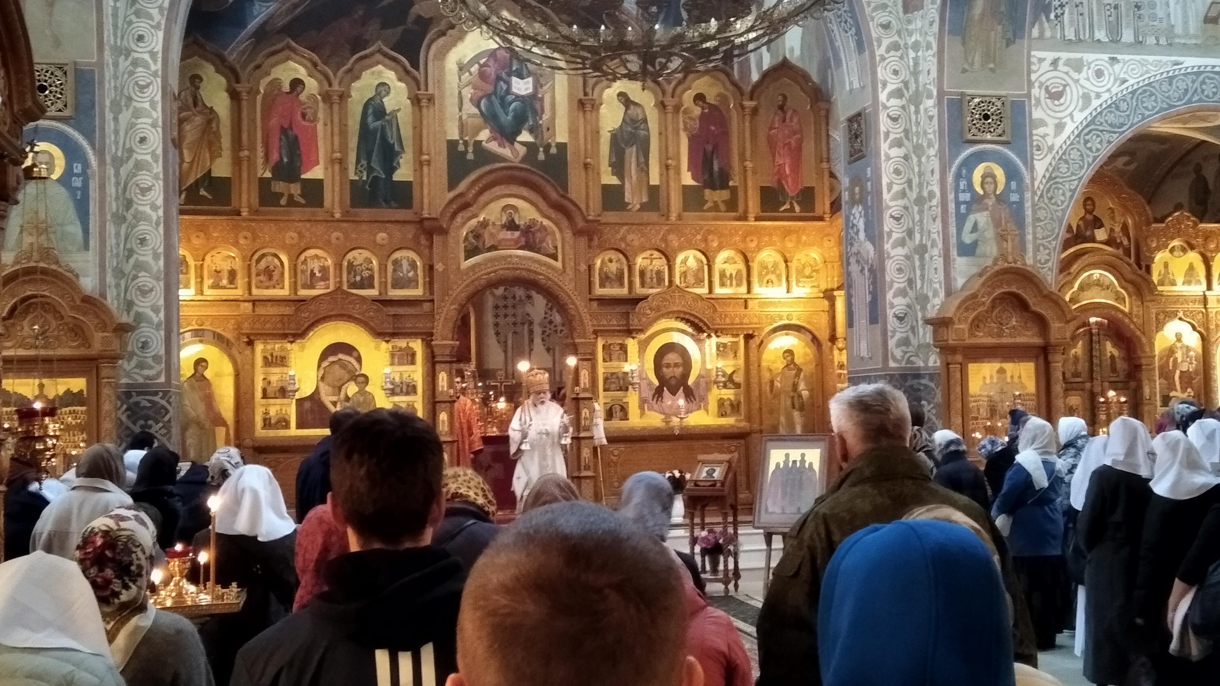 Литургия в храме святых Новомучеников и исповедников Российских в Бутово
